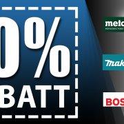 10 % Rabatt ab 200 € Produktwert