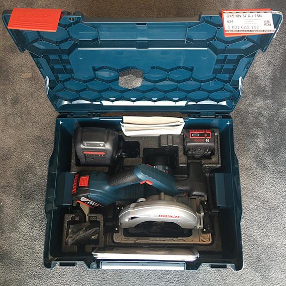 GKS-1 Produkttest: Bosch Kreissäge GKS 18V-57 G
