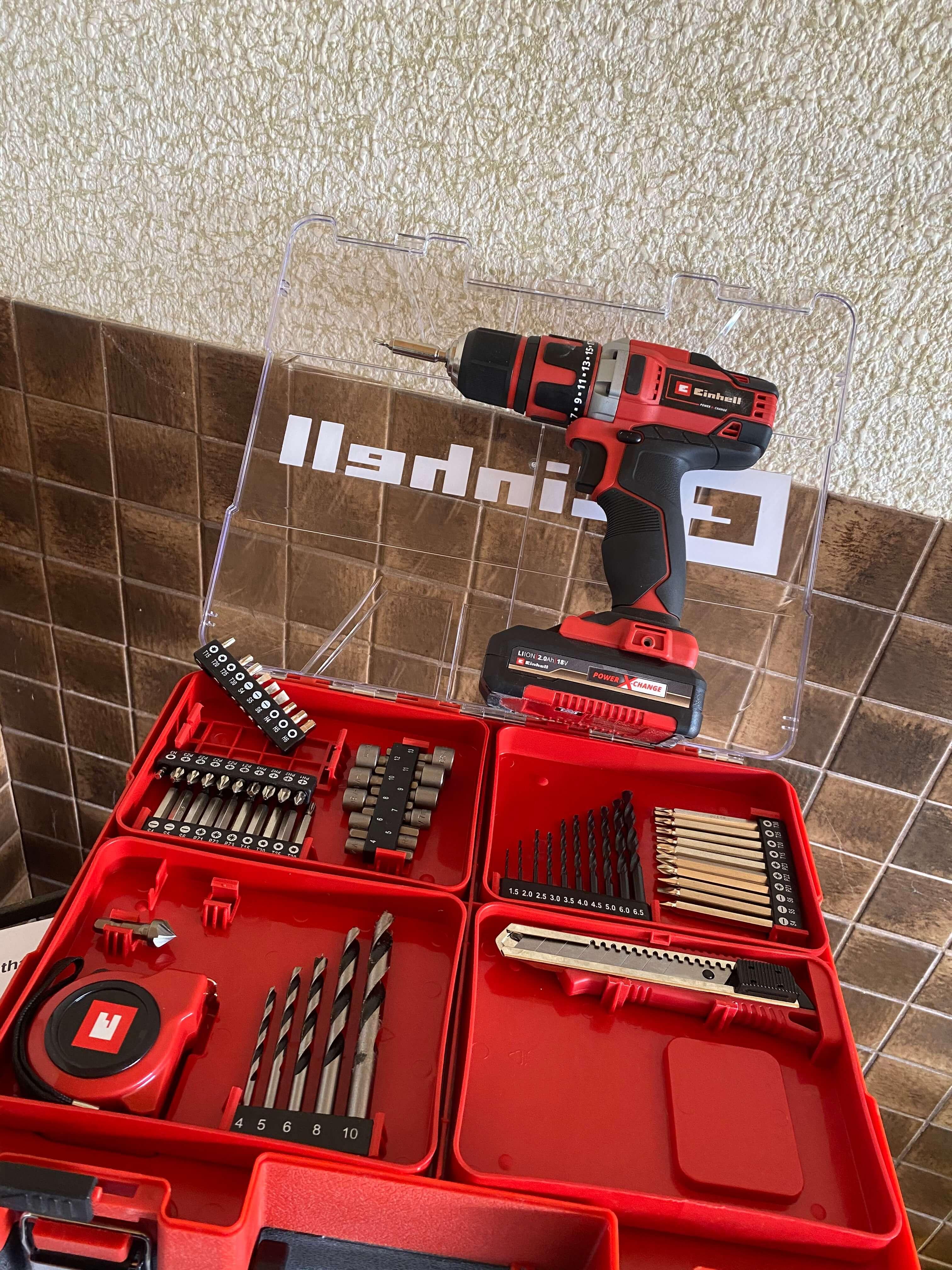 Einhell_Bohrschrauber_TE-CD_18-40-Lieferumfang Produkttest: Einhell Bohrschrauber-Set TE-CD 18/40