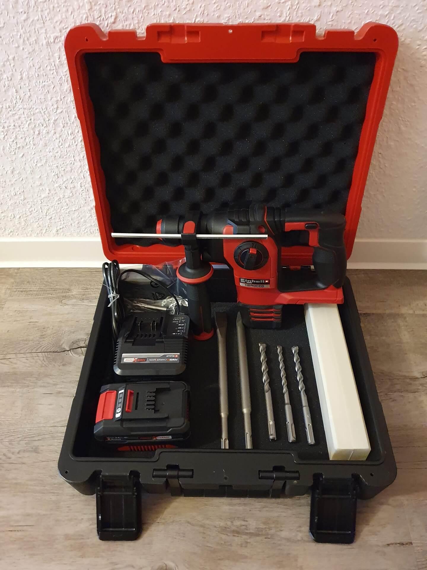 4 Produkttest: Einhell Akku-Bohrhammer HEROCCO