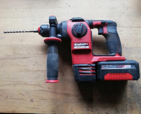 Bohrhammer bereit zum Einsatz